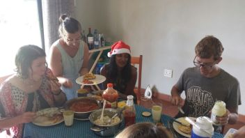 Big fancy group breakfasts are the best. (Photo cred to Lina)