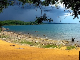Spending New Year's on Lake Niassa (a.k.a. Lake Malawi). A brewing storm (captured by Nicole, since none of my photos from the weekend came out well).